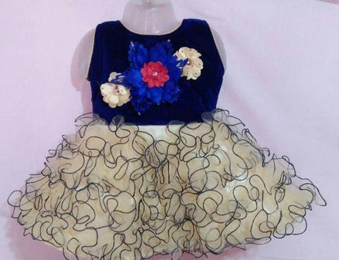 Kids Applique Frock