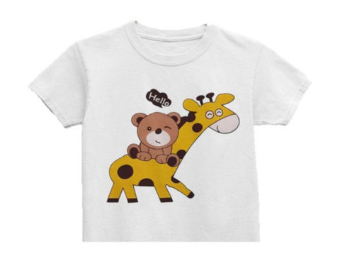 Kid's Girl Fancy Cotton Printed Tee