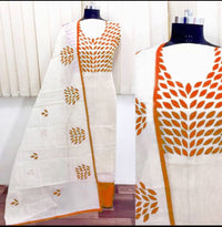 Attractive Chanderi Silk Embroidered Dress Material with Dupatta