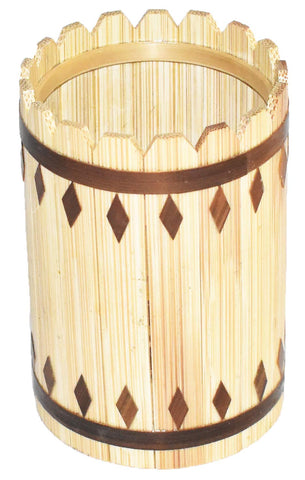 Natural Golden Bamboo pencil holder