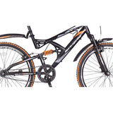 Hero RX2 26T Single Speed Sprint Cycle without Disc Brake - Black & Orange