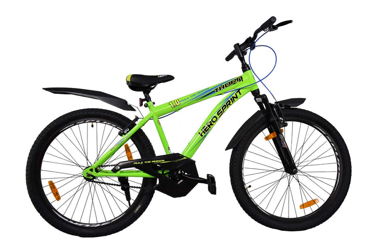 Hero Sprint Thorn 26 Inches Single Speed Front Suspension Bike for Adults Green & Black