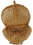 Handicrafts Bamboo Storage Basket (35.56 cm x 22.86 cm x 27.94 cm, Brown)