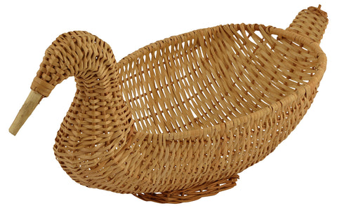 Bamboo Storage Basket (Brown, Pack of 1)