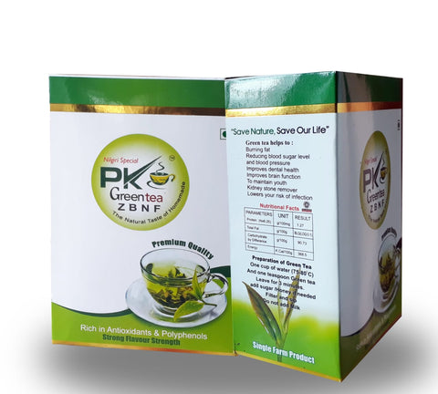 P K Green tea 100.gm pack