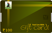 Gift Card  Rs.100 - Food Care INDIA