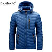 CHAIFENKO Brand Winter Warm Waterproof Jacket Men 2021 New Autumn Thick Hooded Parkas Mens Fashion Casual Slim Jacket Coat Men