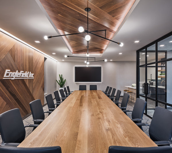 Conference table by Edgework Creative