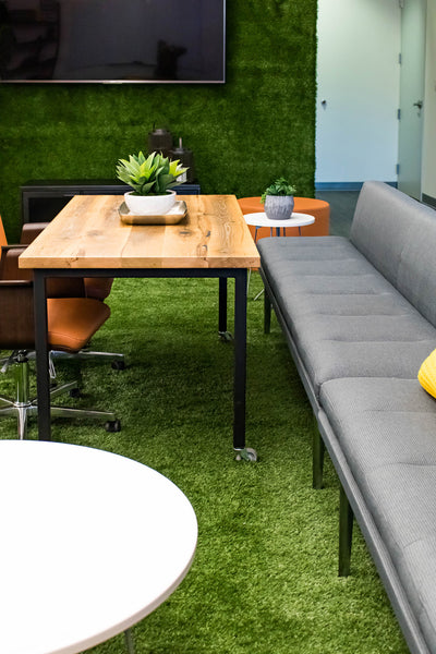 Office Lounge, table by Edgework Creative