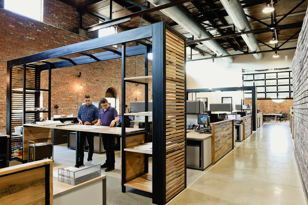 office furniture, desk, coworking, architecture firm, Columbus OH