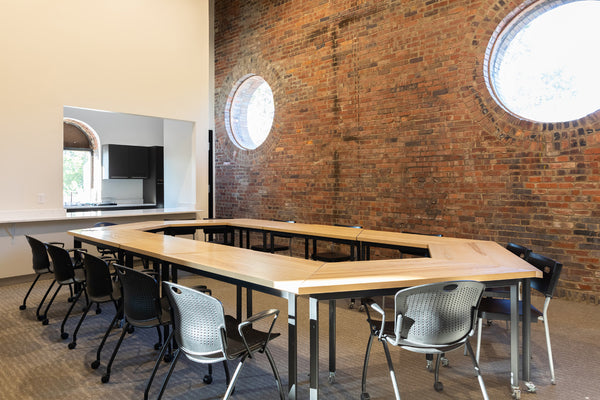 Hive table, modular table, desk, coworking, office furniture, wood desk, custom furniture, Columbus Ohio