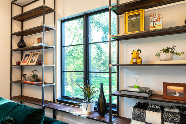 custom shelving, den, netflix, Columbus OH, custom furniture