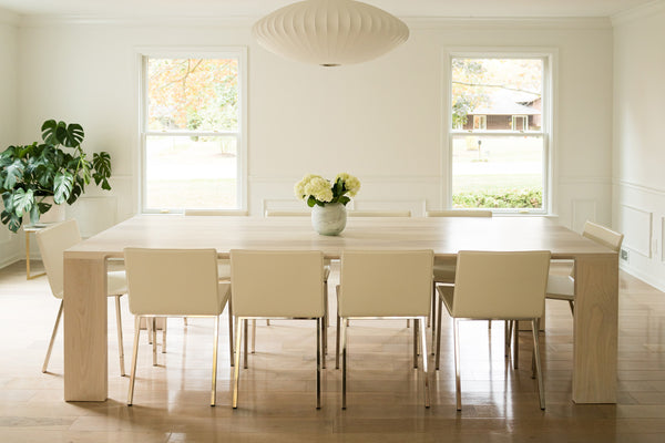 dining table, custom dining table, white dining table, custom furniture, scandinavian design
