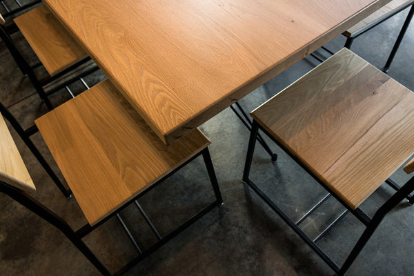 restaurant tables, restaurant furniture, restaurant seating, restaurant chairs, wood furniture, Edgework Creative