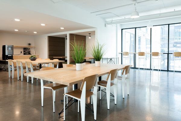 Coworking desks by Edgework Creative, community tables
