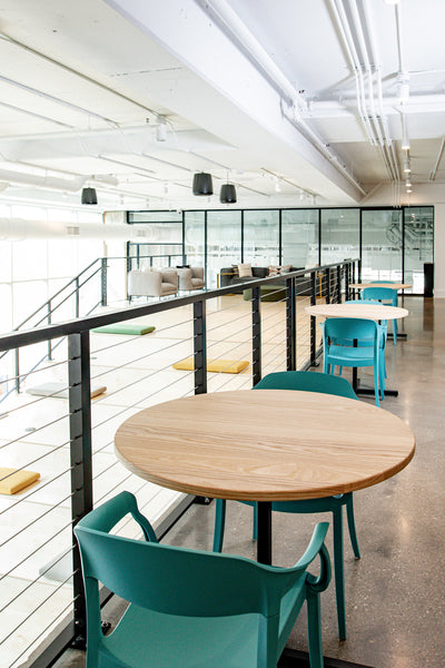Custom tables by Edgework Creative, co working space