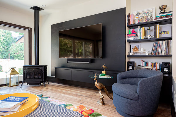 Media Unit and Shelving by Edgework Creative, German Village