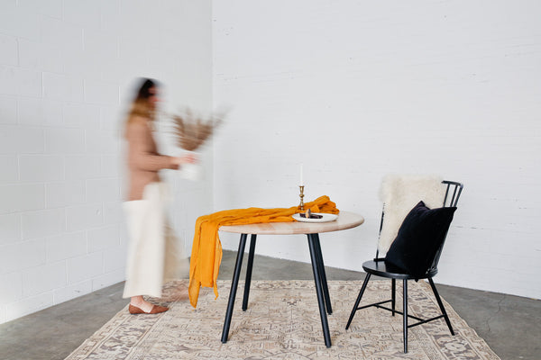 Elemnt round dining table by Edgework Creative