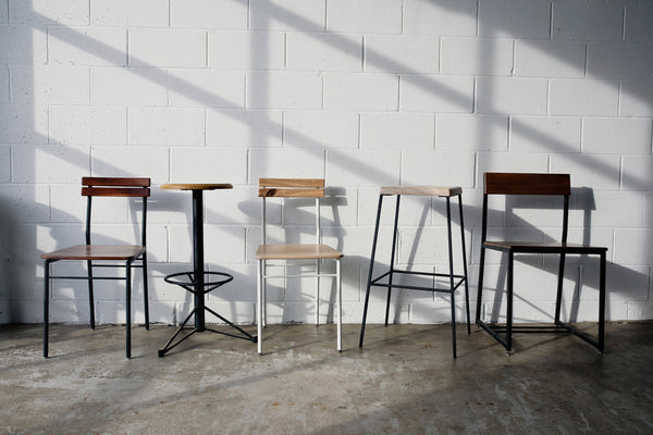 Seating collection by Edgework Creative, chairs and stools