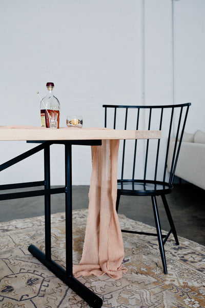 The Truss Dining Table by Edgework Creative, wood and metal table