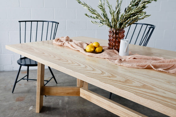 The Ryder Dining Table by Edgework Creative, wood dining table