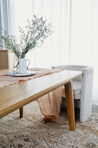 The Summit Dining Table by Edgework Creative, oak dining table