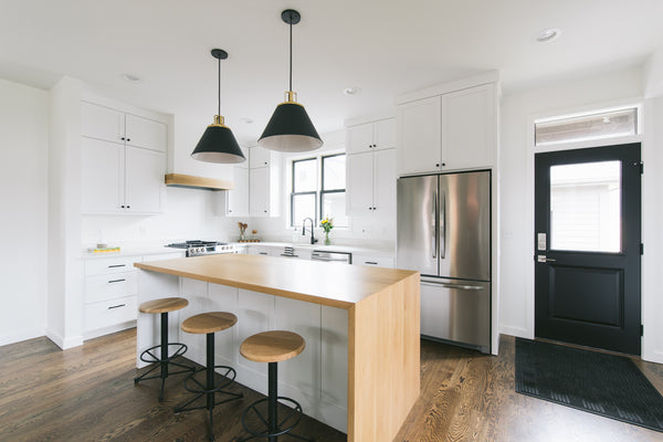 Waterfall Kitchen Island, 5 simple ways to update your home by Edgework Creative