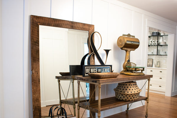 Rustic mirror by Edgework Creative, 5 simple ways to update your home