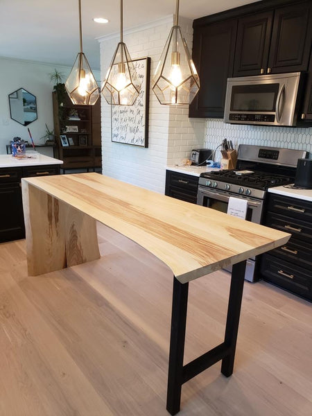 5 Simple Ways to Update Your Home by Edgework Creative, waterfall countertop