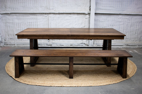 dining table, custom dining table, extension dining table, walnut dining table, custom furniture