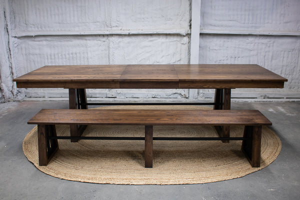 dining table, custom dining table, extension dining table, wlanut dining table, custom furniture