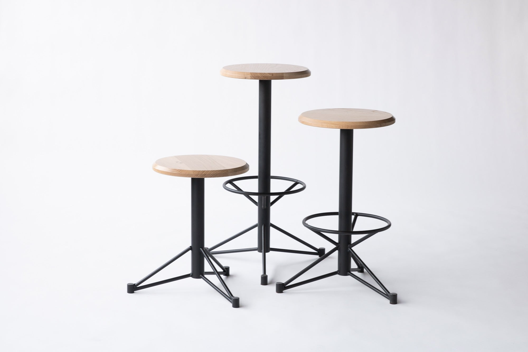 The Mast Stool - White Oak/ Black | Edgework Creative