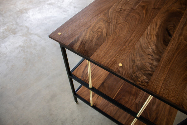 walnut desk, wood desk, custom desk, executive desk, custom furniture
