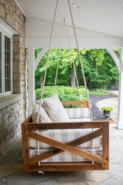 Custom porch swing by Edgework Creative, 5 simple ways to update your home