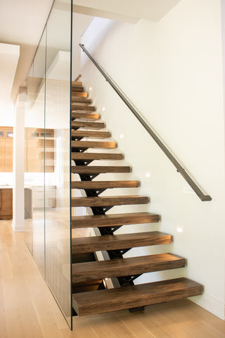 custom staircase, floating staircase