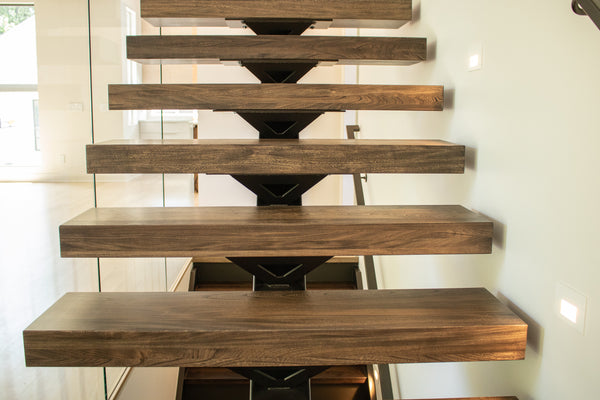 custom staircase, floating stairs