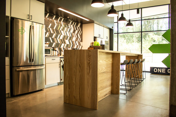 Pelotonia, custom furniture, kitchen island, wood furniture