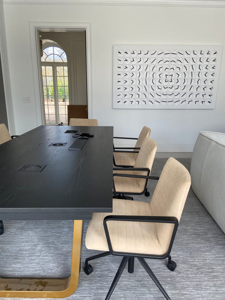 Home office furniture by Edgework Creative, conference table