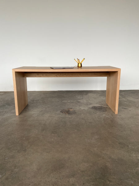 The Brook desk by Edgework Creative, waterfall wood desk
