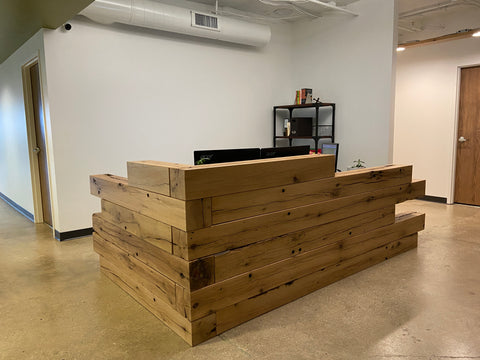 reception desk, office furniture, custom reception desk, office design