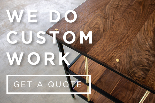 custom furniture, wood furniture, sustainable furniture, Edgework Creative