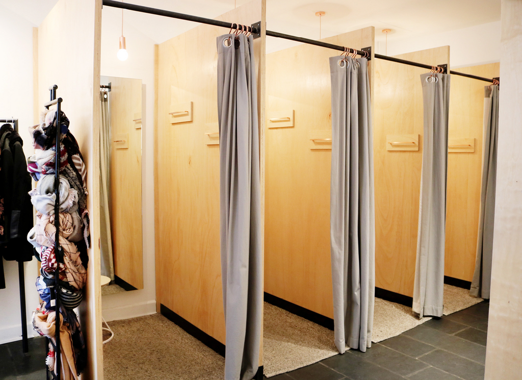 Custom fitting rooms for Rowe Boutique in the Short North