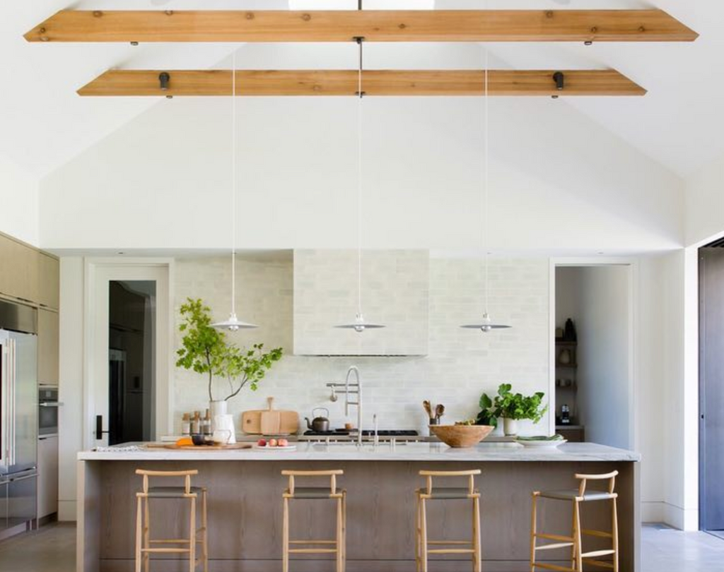 wood ceiling beams - @dwellmagazine