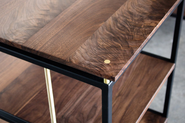desk, wood desk, executive desk, wood furniture, sustainable furniture, walnut desk