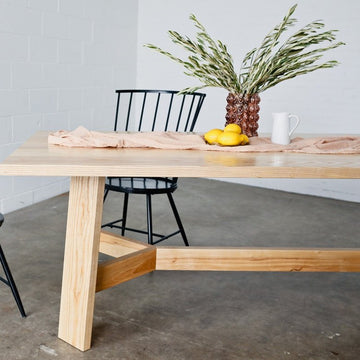Ryder dining table by Edgework Creative, wood dining table