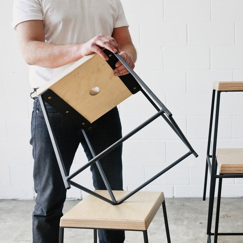 STAX stool by Edgework Creative, stacking stools and end table