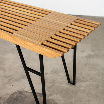 The Campfire bench by Edgework Creative, wood bench