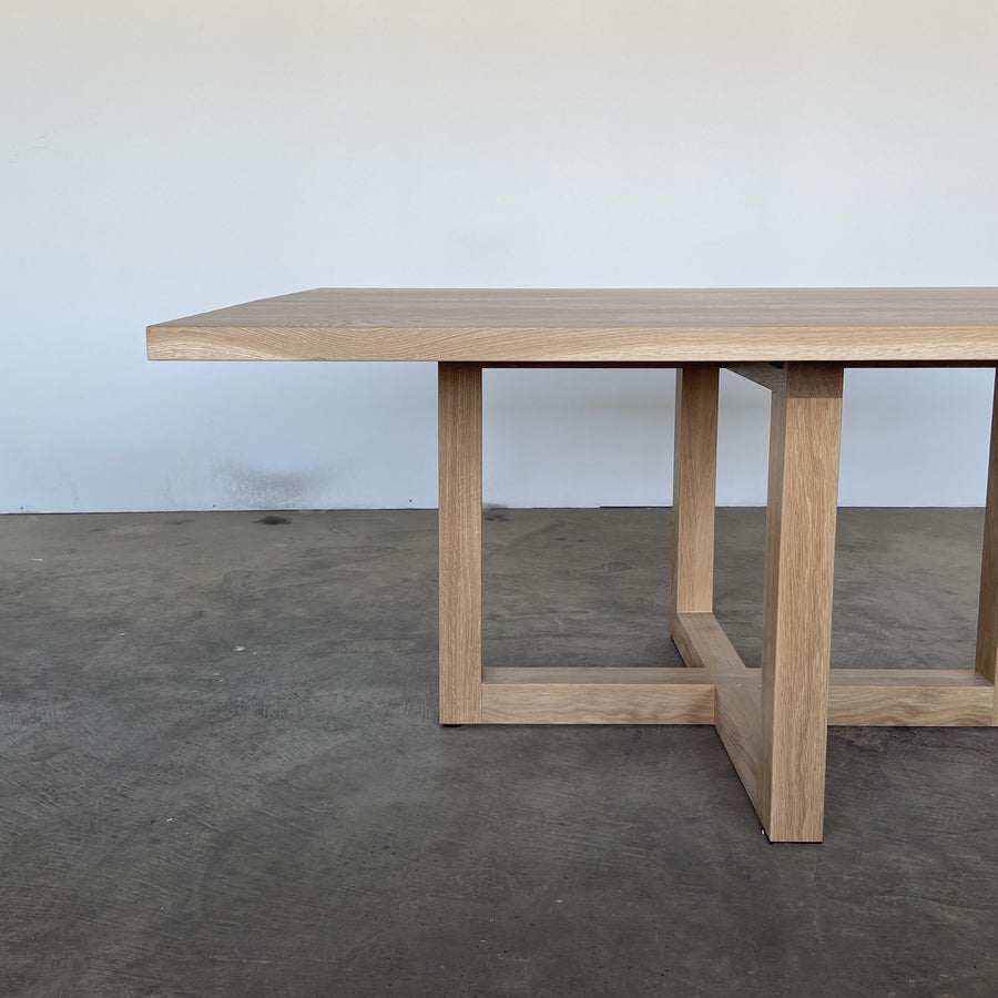 Milo dining table by Edgework Creative, oak dining table