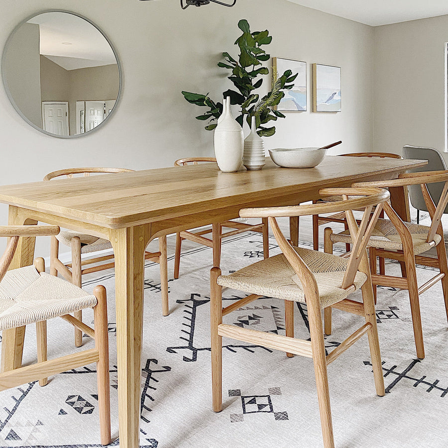 White oak Summit Dining Table by Edgework Creative