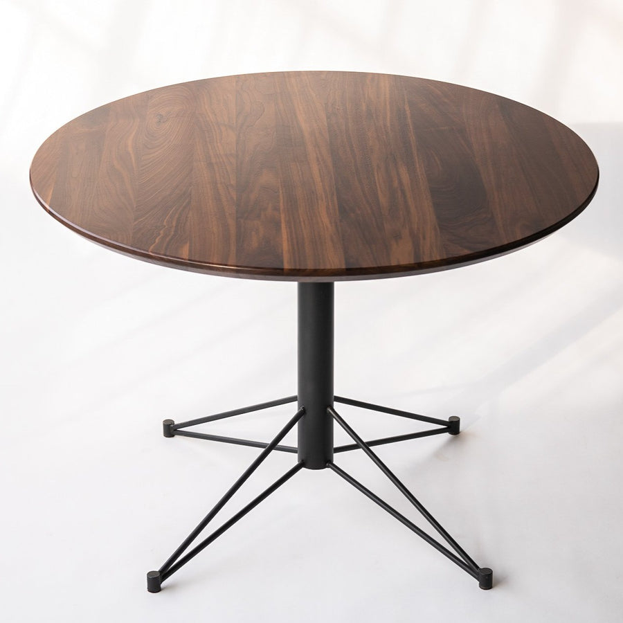 round dining table with wood top